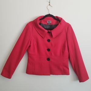 Renuar Collection 10 Red Blazer oversize lapel